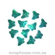 Бабочки пайетки аква