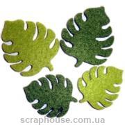Листики зеленые фетровые