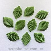 Листики зеленые текстильные