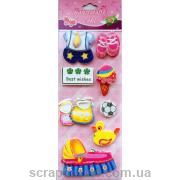 """Наклейки объемные 3D для скрапбукинга """"Детский""""-5"""