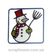 Штамп резиновый Снеговик