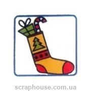 Штамп резиновый Носочек с подарками