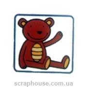 Штамп резиновый Мишка
