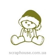 Штамп резиновый Новогодний мишка