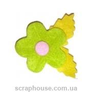 Аппликация из фетра Цветок салатовый