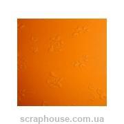 """Эмбоссированный картон """"Розочки"""" оранжевый"""