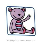 Штамп резиновый Мишка для оформления поздравлений или альбома