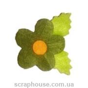 Аппликация из фетра Цветок зеленый