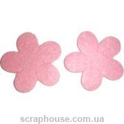 Фетровая аппликация Цветочки розовые