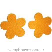 Фетровая аппликация Цветочки оранжевые
