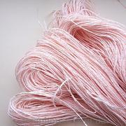 Бечевка декоративная бумажная пастельно-розового цвета