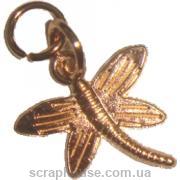 Металлическая подвеска Золотая стрекоза