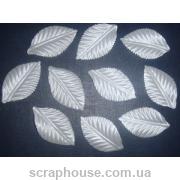 Листики белые текстильные