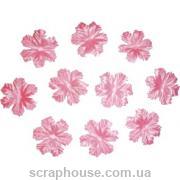 Цветочки для скрапбукинга мальва розовые
