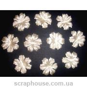 Цветы для скрапбукинга мальва кремовые
