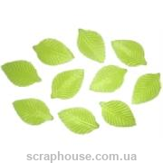 Листики салатовые текстильные