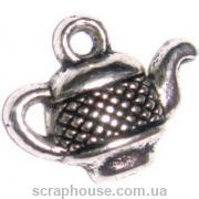 Металлическое украшение Чайничек