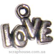 Металлическое украшение LOVE