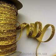 Лента велюровая с люрексом золотая