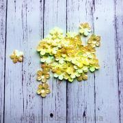 Пайетки Цветочки желтые лютики