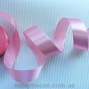 Лента атласная розовая, ширина 2,5 см