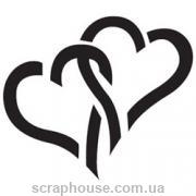 Фигурный дырокол Два сердца