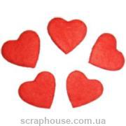 Aппликация Сердечки красные