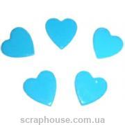 Aппликация Сердечки голубые