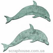 Aппликация Дельфины