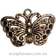 Металлическое украшение бабочка