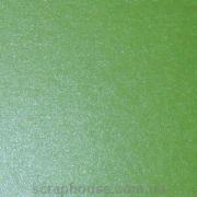 Картон дизайнерский зеленый с перламутром