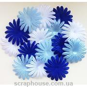 Набор цветов для скрапбукинга Морской бриз