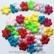 Цветочки маленькие ассорти текстильные, с круглыми лепестками
