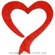 Aппликация Сердечко-лента красное