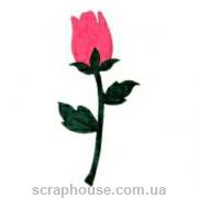 Aппликация Роза розовая