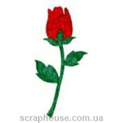 Aппликация Роза красная