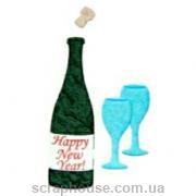 Aппликация Новогоднее шампанское