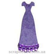 Aппликация платье вечернее сиреневое