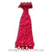 Aппликация платье вечернее красное