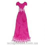 Aппликация платье вечернее цвета фуксии