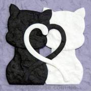 Aппликация Влюбленные котики