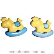Декоративные пуговицы Пони, размер 2,5х1,5 см