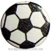 Деревянная аппликация Мяч футбольный