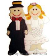 Деревянная аппликация Жених и невеста