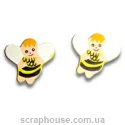 Деревянные аппликации Пчелки