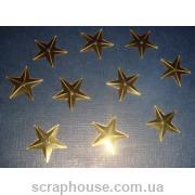 Пайетки Звездочки золотые