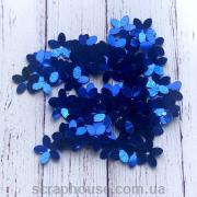 Пайетки Цветочки синие