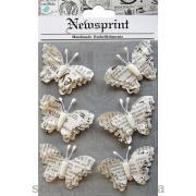 Набор бабочек Newsprint