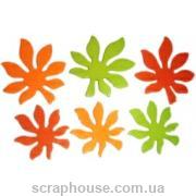 Деревянная аппликация Листики осенние каштановые