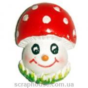 Керамическая аппликация Веселый грибочек